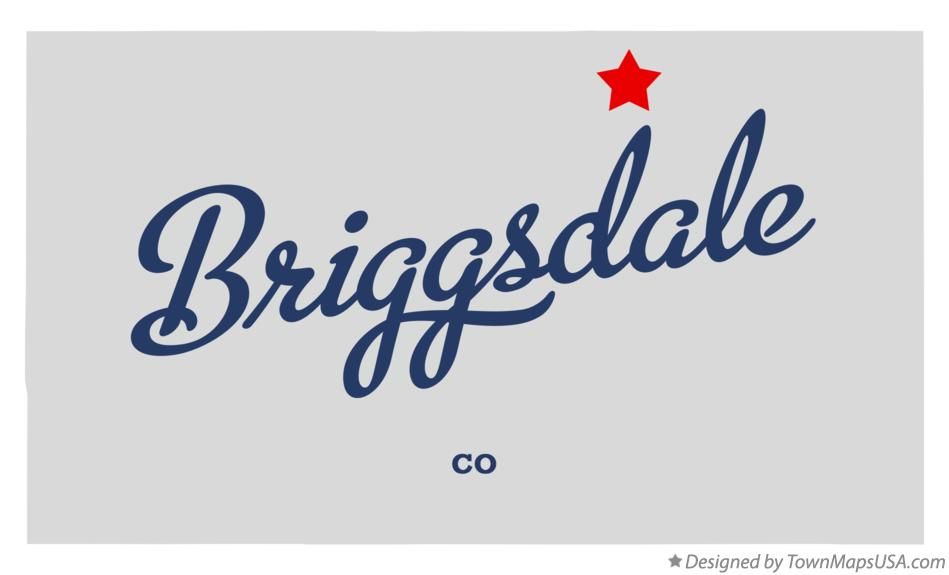 Map of Briggsdale Colorado CO