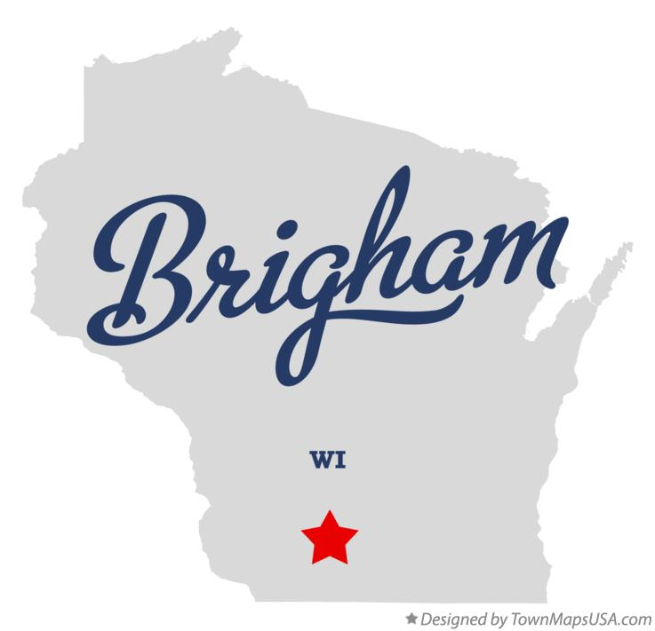 Map of Brigham Wisconsin WI
