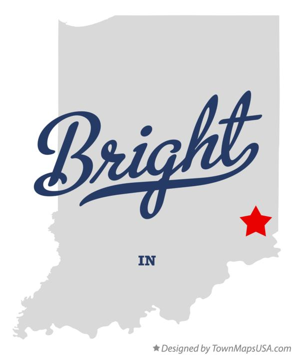 Map of Bright Indiana IN