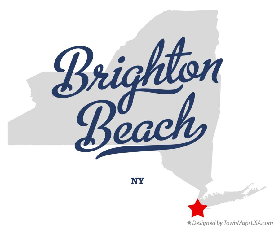 Map of Brighton Beach New York NY