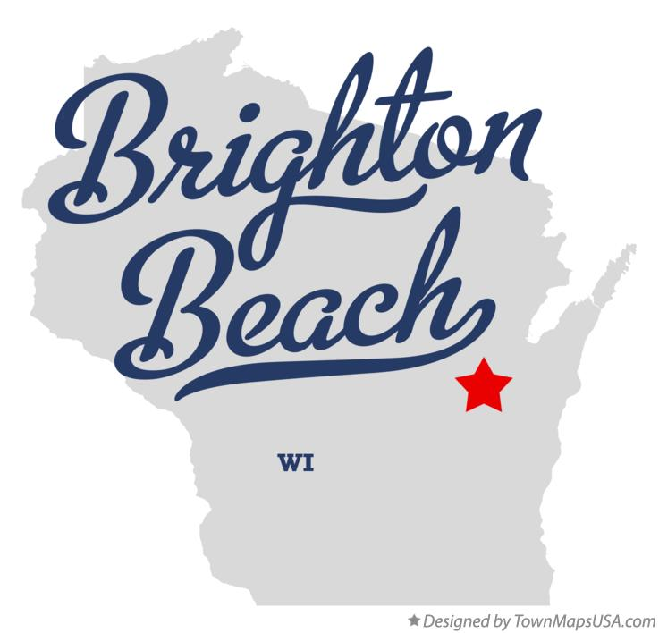 Map of Brighton Beach Wisconsin WI