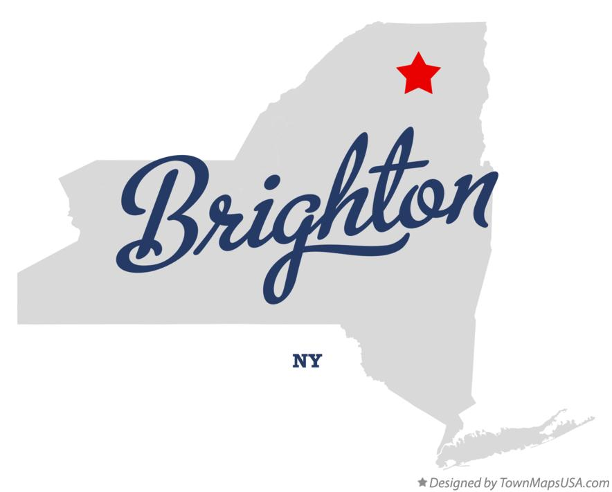 Map of Brighton New York NY