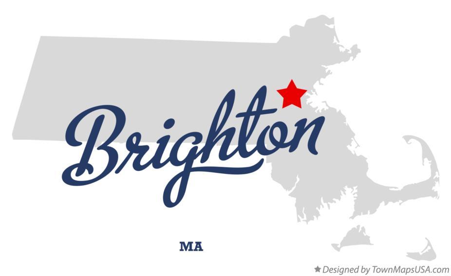 Map of Brighton, MA, Machusetts Map Of Brighton Machusetts on