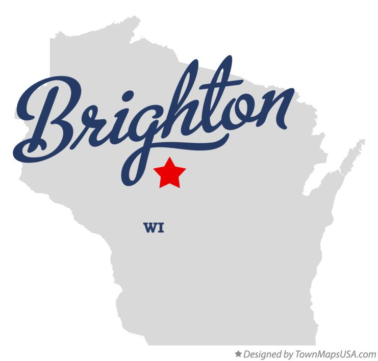 Map of Brighton Wisconsin WI