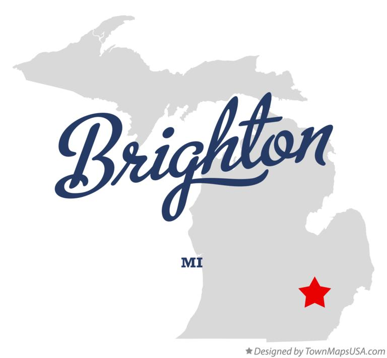 Map of Brighton Michigan MI
