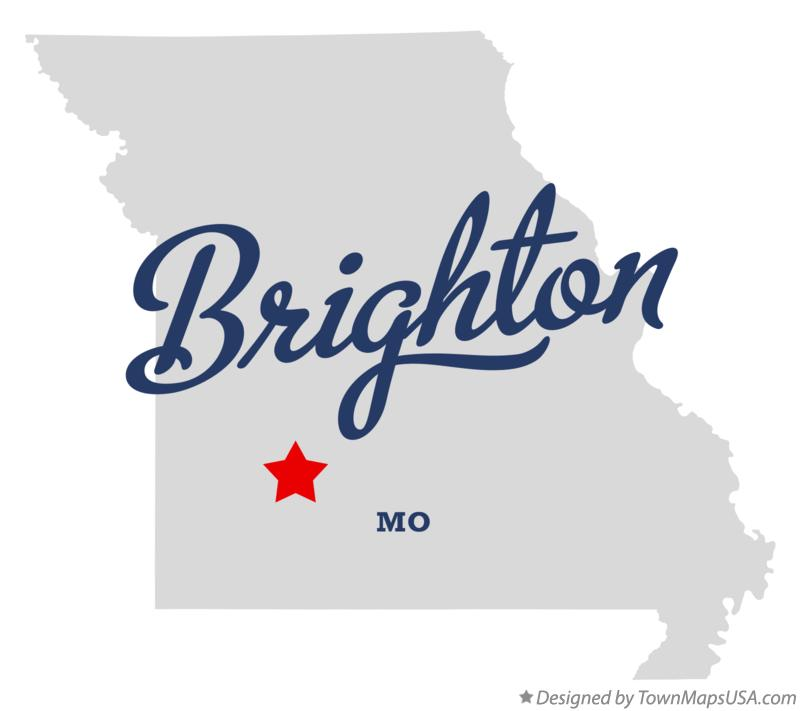 Map of Brighton Missouri MO