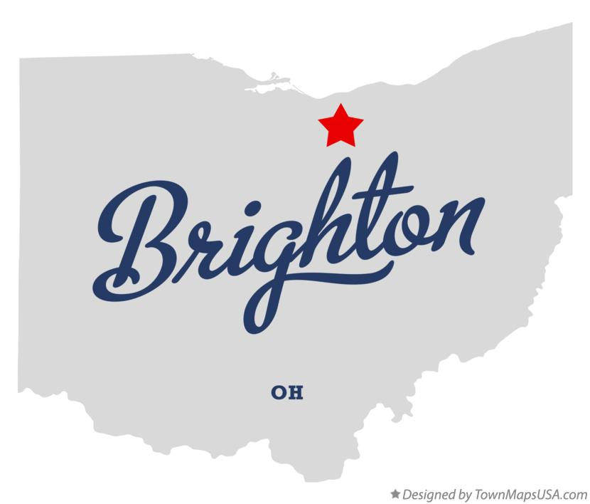 Map of Brighton Ohio OH