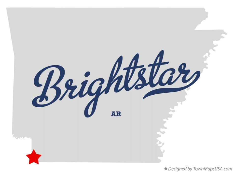Map of Brightstar Arkansas AR