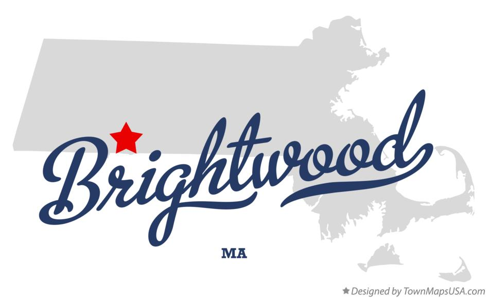 Map of Brightwood Massachusetts MA