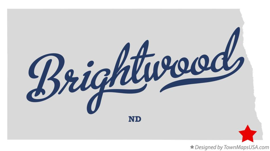 Map of Brightwood North Dakota ND