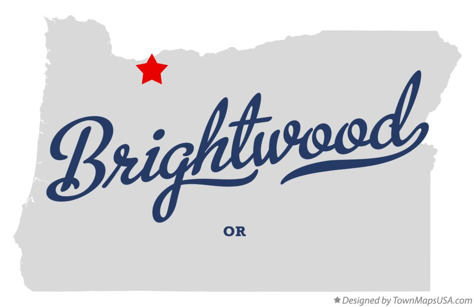 Map of Brightwood Oregon OR
