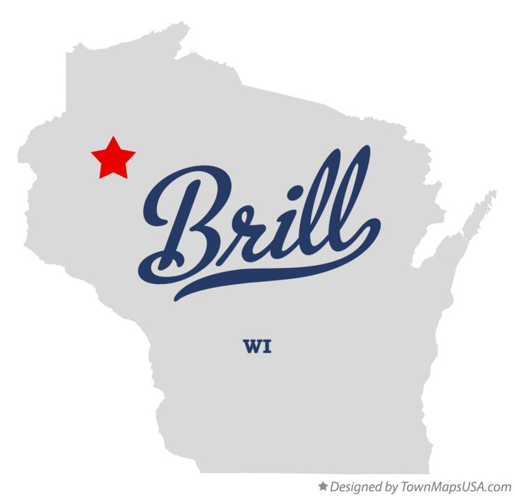 Map of Brill Wisconsin WI