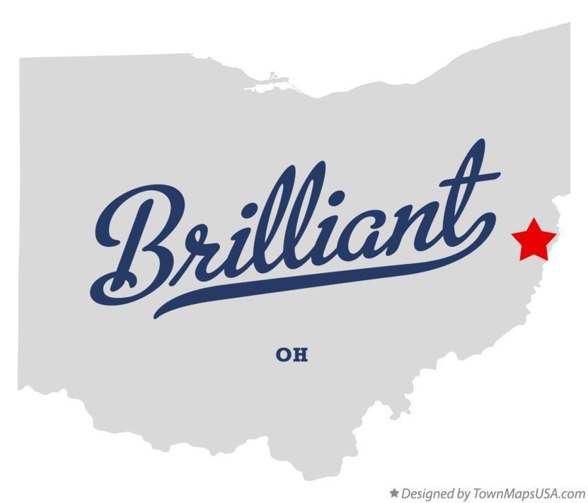 Brilliant Ohio Map.Map Of Brilliant Oh Ohio