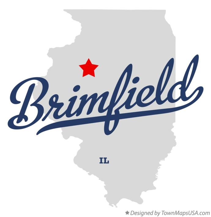 Map of Brimfield Illinois IL