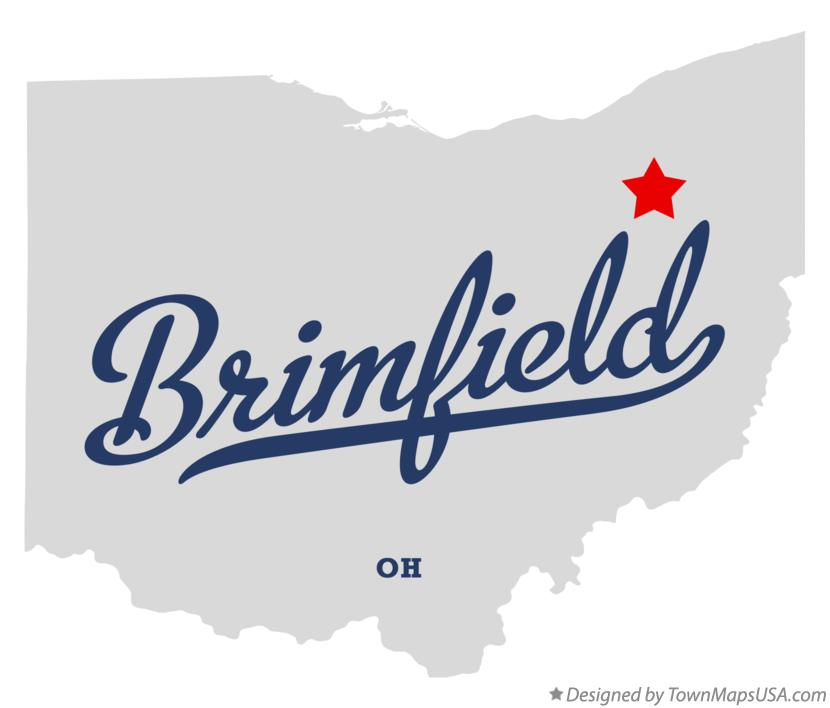 Map of Brimfield Ohio OH