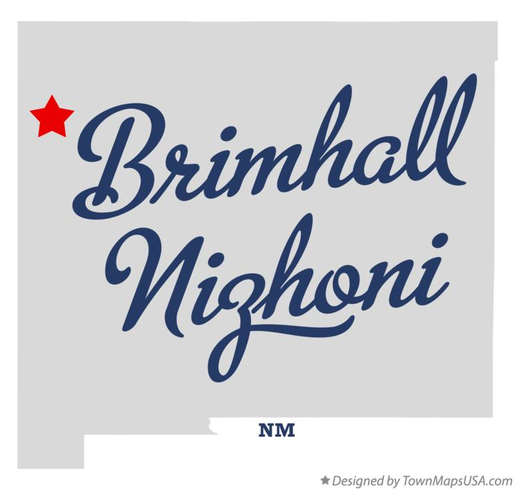 Map of Brimhall Nizhoni New Mexico NM