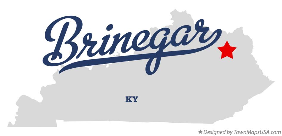 Map of Brinegar Kentucky KY