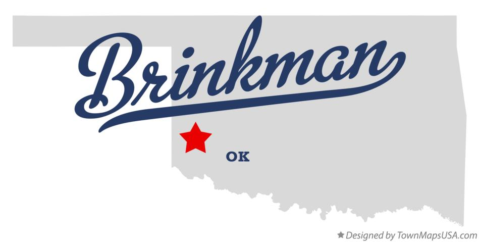 Map of Brinkman Oklahoma OK