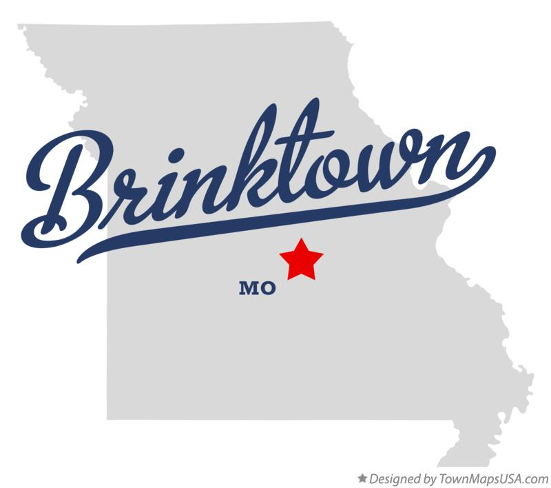 Map of Brinktown Missouri MO