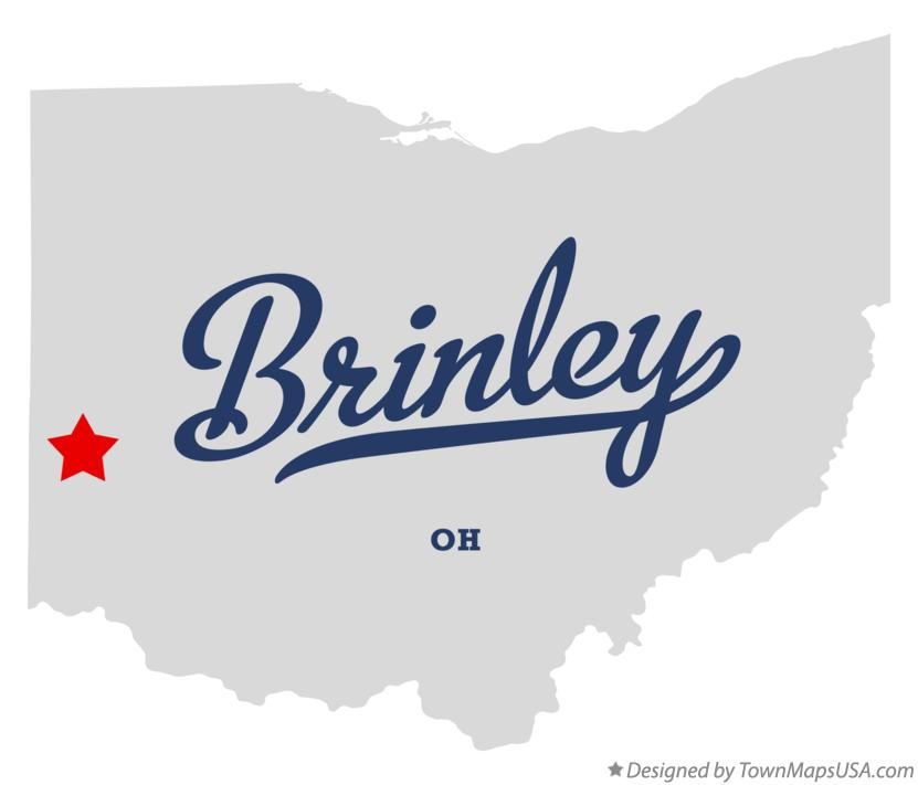 Map of Brinley Ohio OH