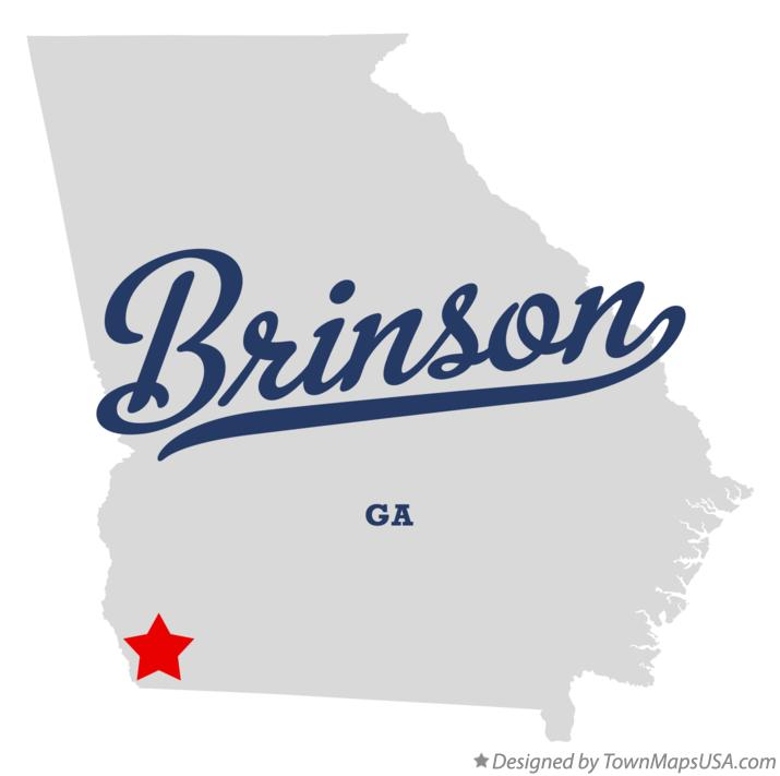 Map of Brinson Georgia GA