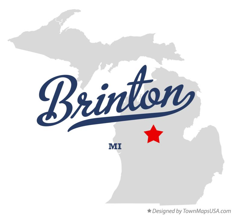 Map of Brinton Michigan MI