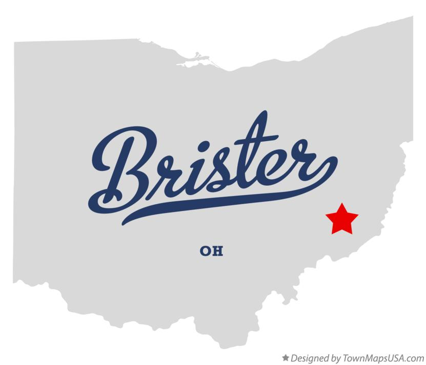 Map of Brister Ohio OH