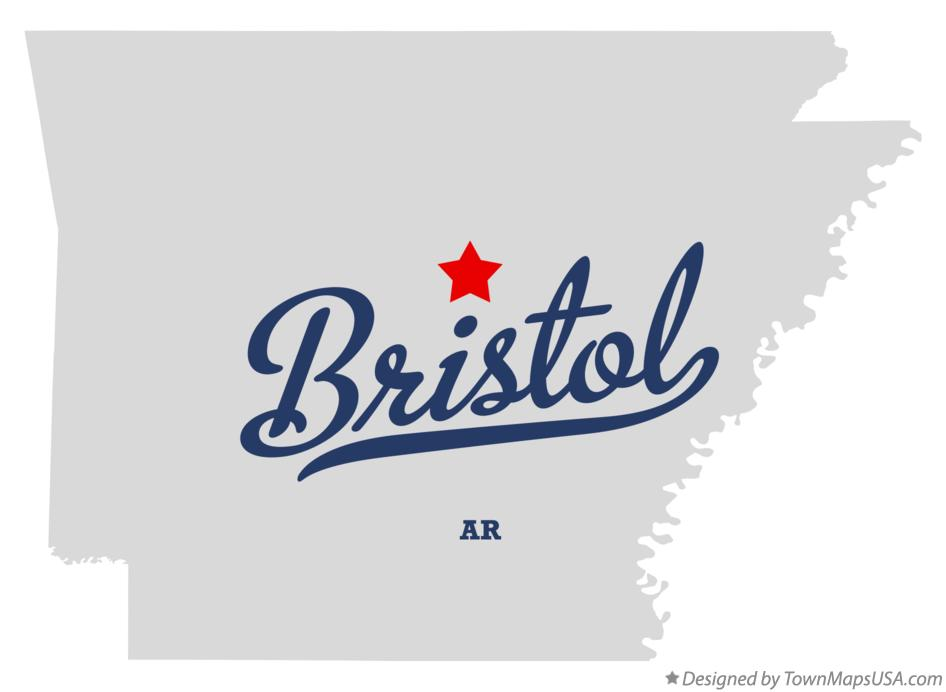 Map of Bristol Arkansas AR