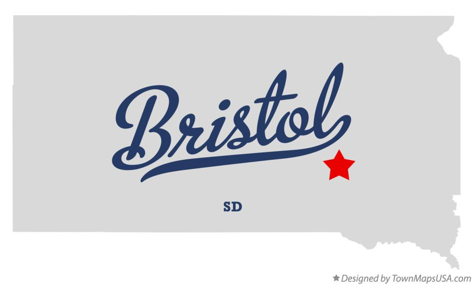 Map of Bristol South Dakota SD