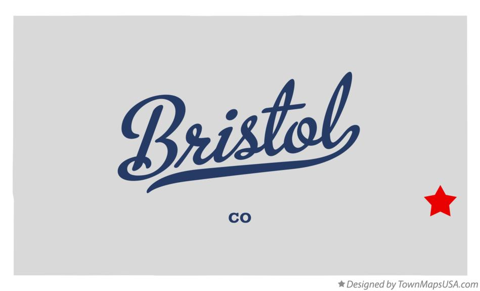 Map of Bristol Colorado CO