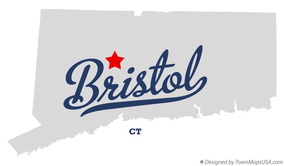 Map of Bristol Connecticut CT