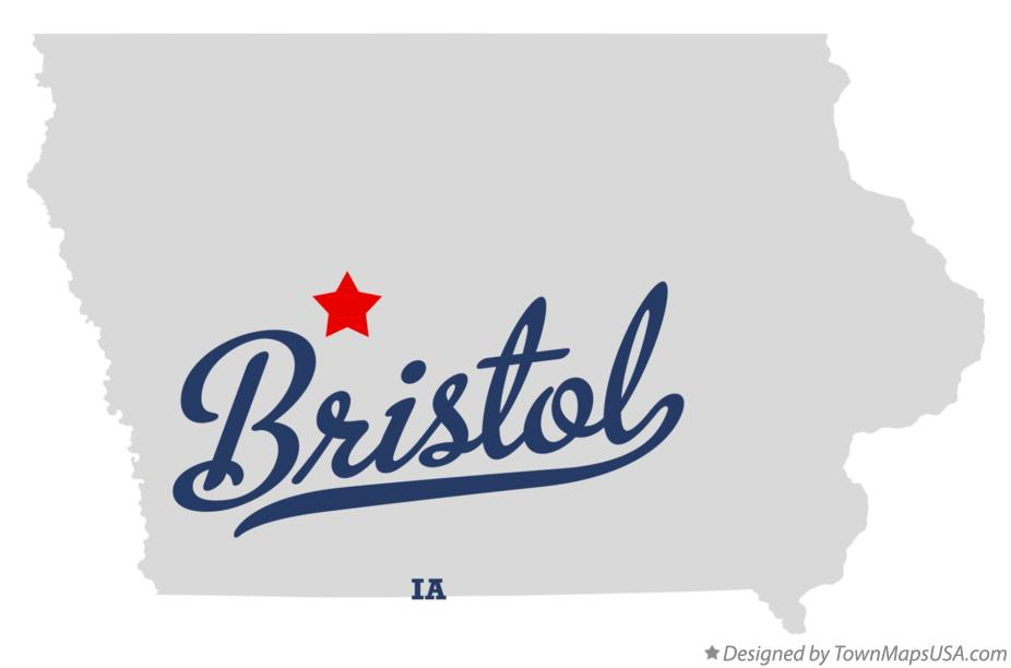 Map of Bristol Iowa IA