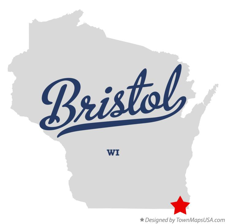 Map of Bristol Wisconsin WI