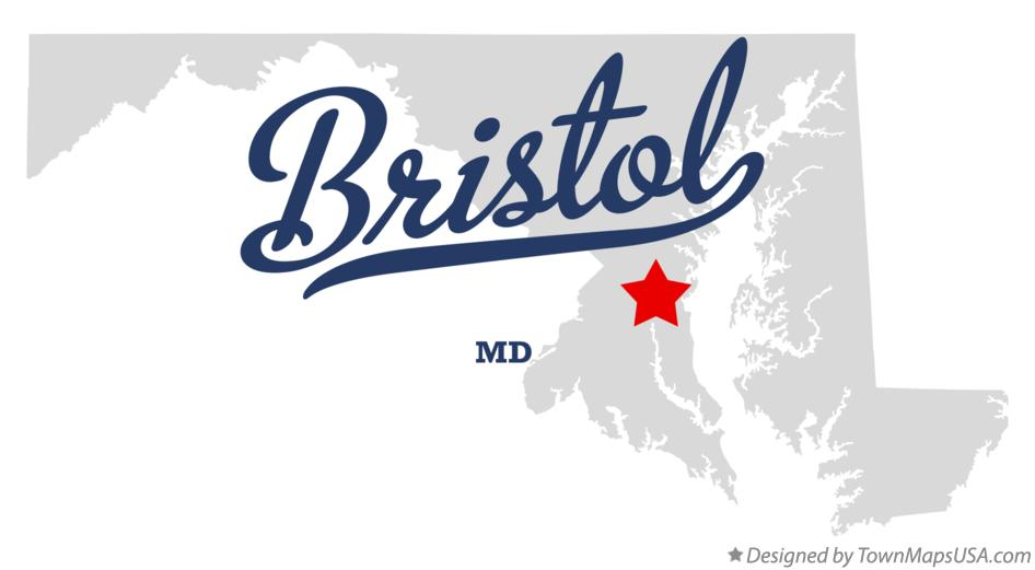 Map of Bristol Maryland MD