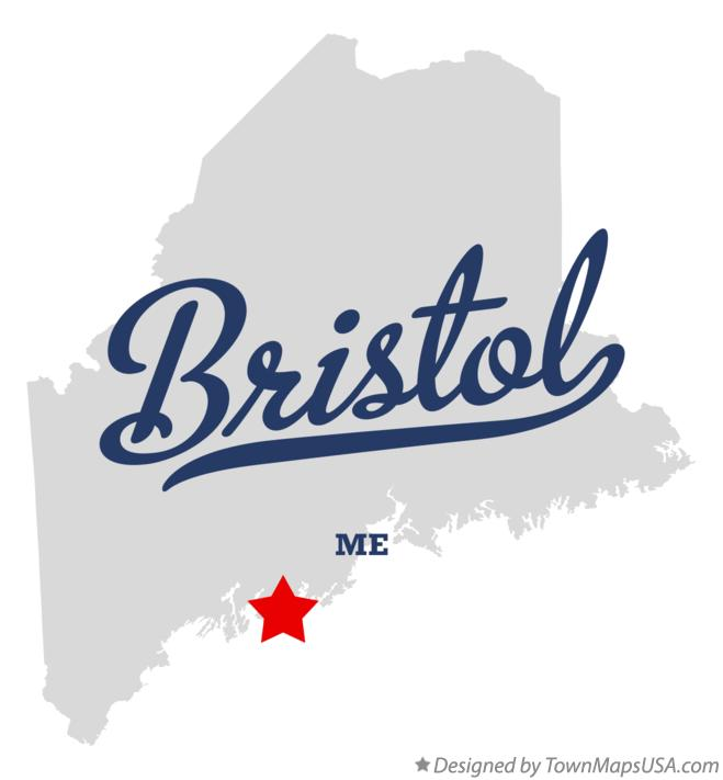 Map of Bristol Maine ME