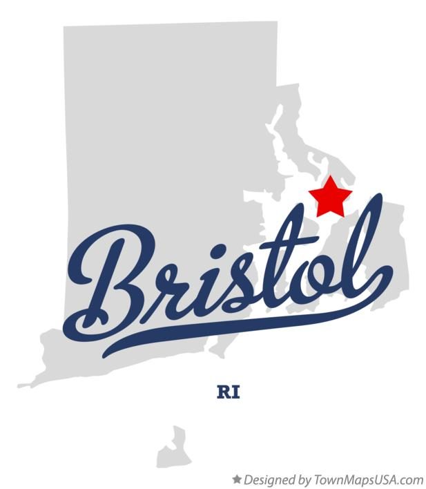 Map of Bristol Rhode Island RI
