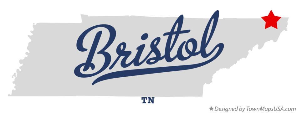 Map Of Bristol Tn Tennessee