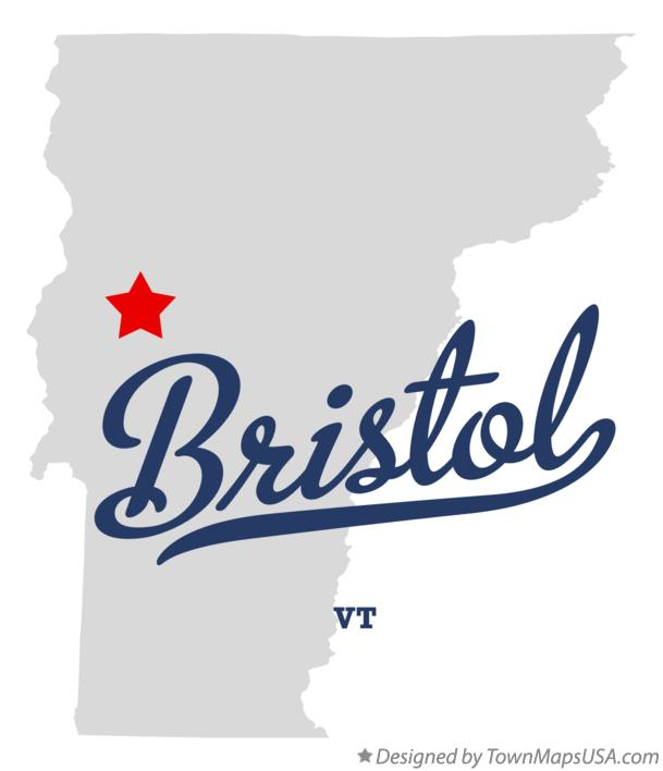 Map of Bristol Vermont VT