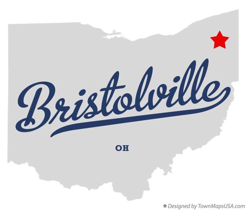 Map of Bristolville Ohio OH
