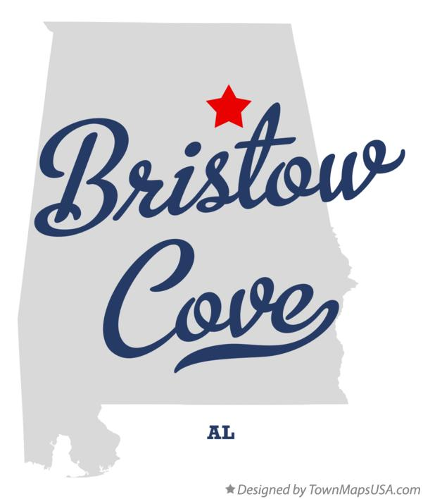 Map of Bristow Cove Alabama AL