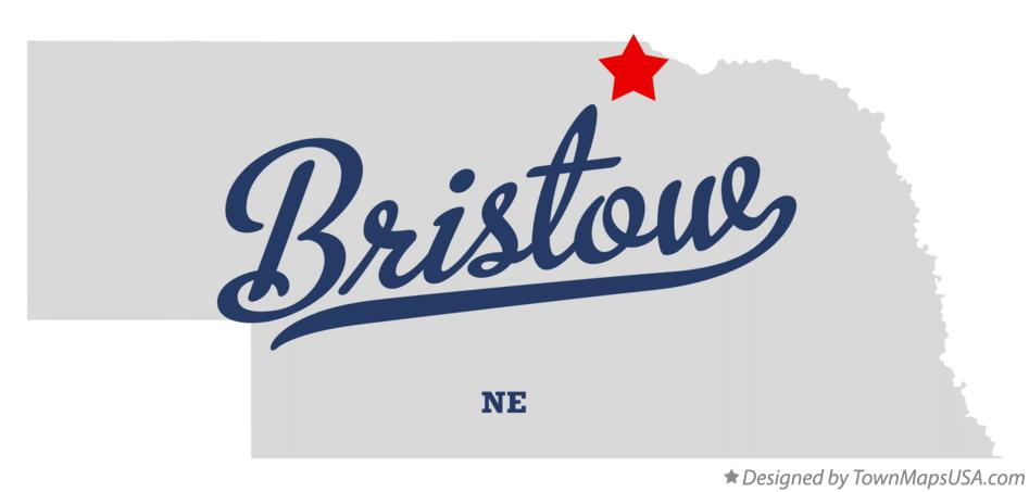 Map of Bristow Nebraska NE