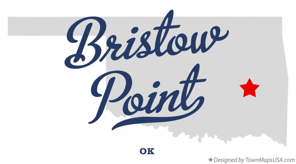 Map of Bristow Point Oklahoma OK