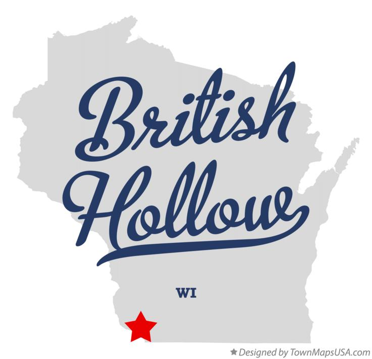 Map of British Hollow Wisconsin WI