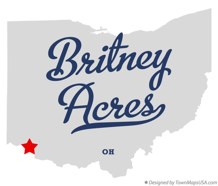 Map of Britney Acres Ohio OH