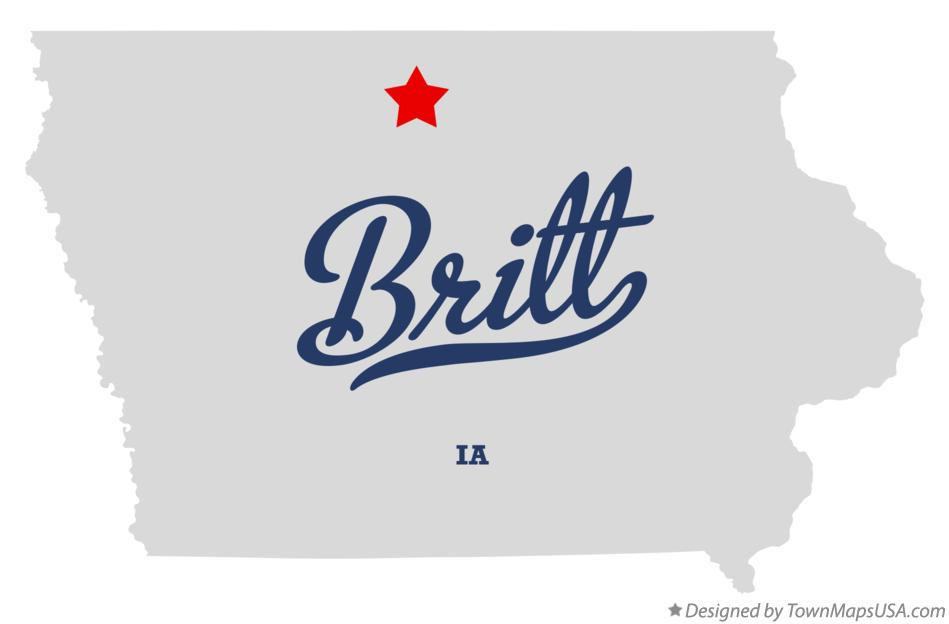 Map of Britt Iowa IA