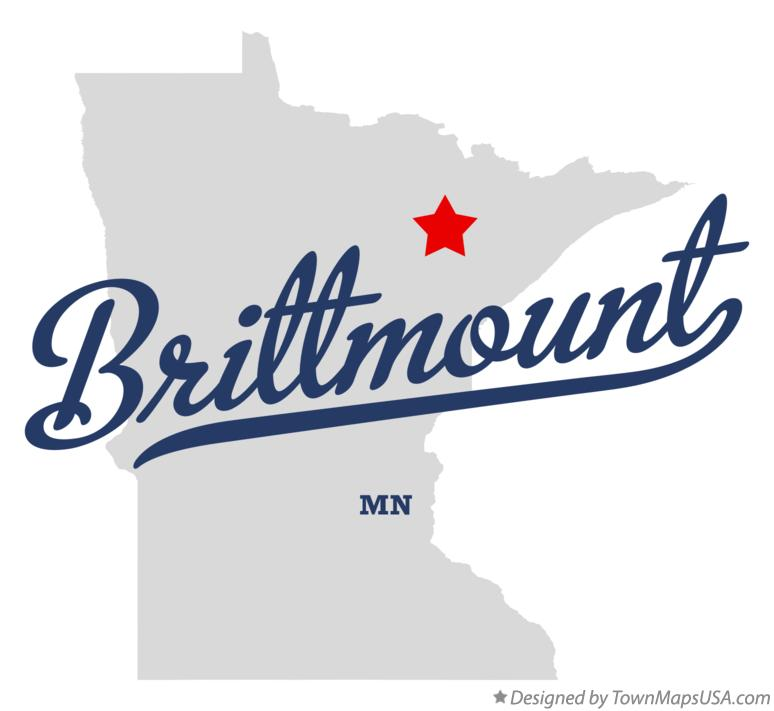Map of Brittmount Minnesota MN
