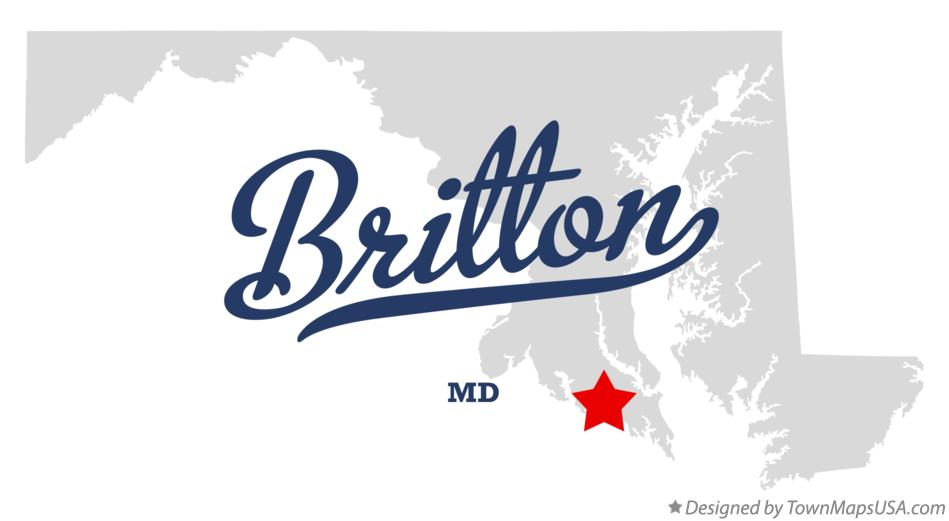 Map of Britton Maryland MD