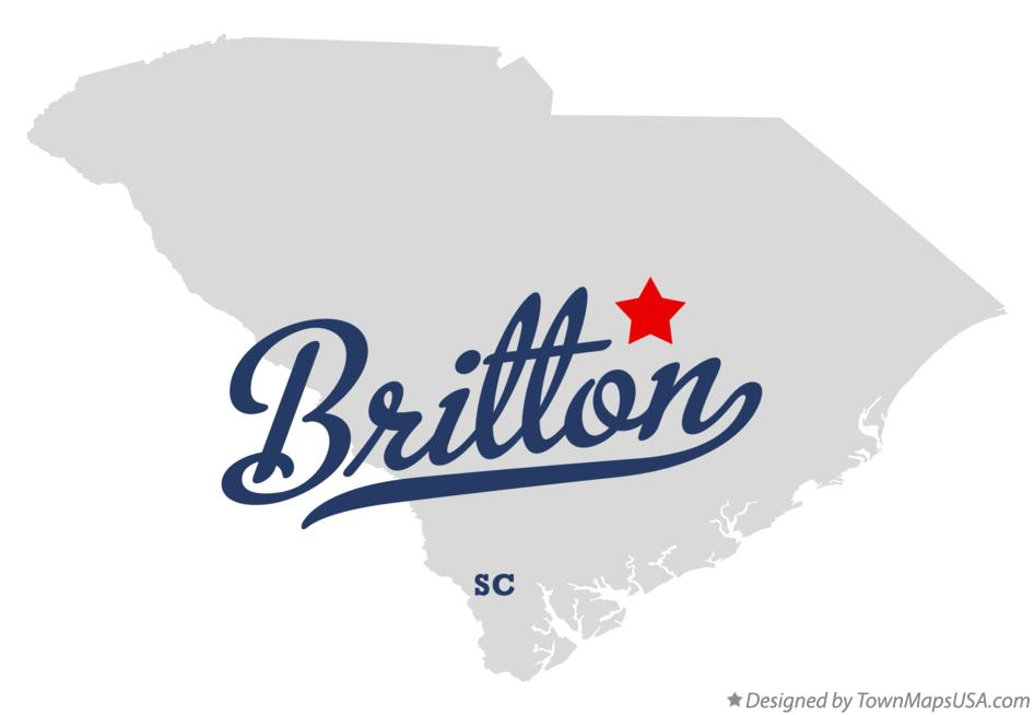 Map of Britton South Carolina SC