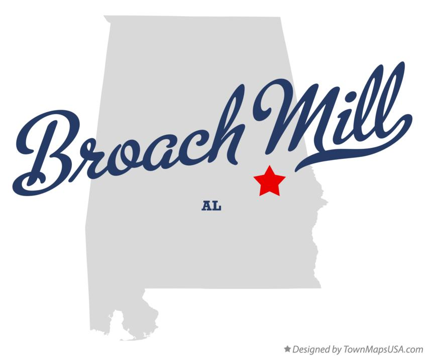 Map of Broach Mill Alabama AL