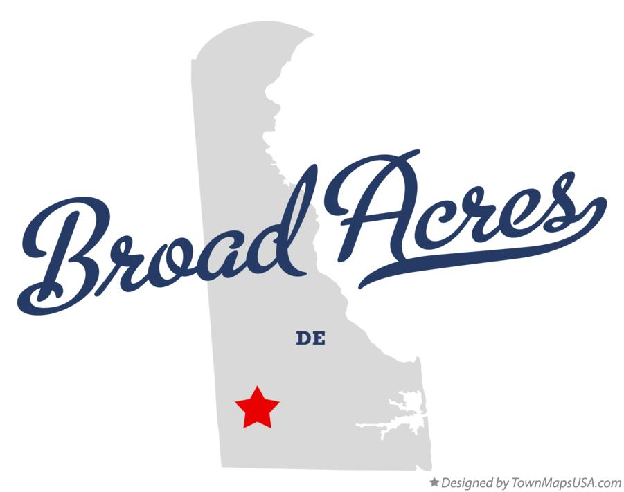 Map of Broad Acres Delaware DE